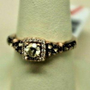 Levian 14KT 3.6 Gram Ladies Rose Gold Diamond Ring